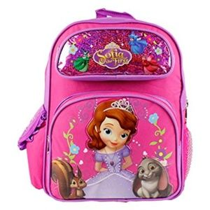 """Disney Sofia the First 16"""" Deluxe Backpack NWT"""